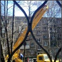 Автовышка для опилки деревьев. :: Ольга Кривых