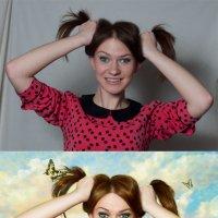 веселая девчонка (до и после) :: Veronika G
