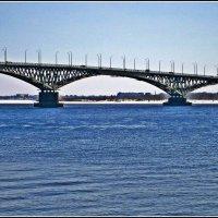 Саратоский мост через Волгу. :: Лариса Коломиец