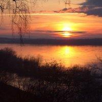 Закат над Северной Двиной :: Татьяна Копосова
