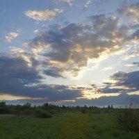 Закат после дождя. :: D. Matyushin.