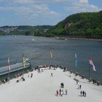 Кобленц-слияние реки Мозель и Рейна :: Ирина Л