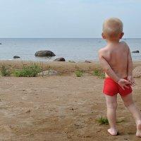 Малыш и море :: Маргарита Вецко
