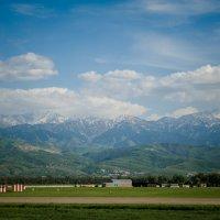 вид на горы с аэропорта в Алмате :: Владимир Ливарский