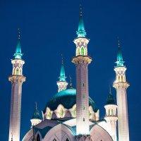 Ночные виды Казани. Мечеть Кул Шариф :: Valeria Mironova