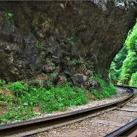 Узкоколейка (75 см). Гуамское ущелье. :: Ольга Ламзина
