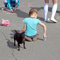 Северодвинск. Велопарад. Конкурс: нарисуй велосипед :: Владимир Шибинский