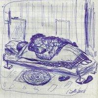 Светлана Романовна спит под одеялами и тулупом. :: Роман Деркаченко