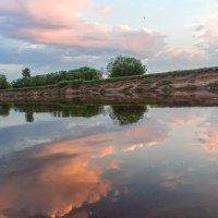 закат на р Молома. :: михаил скоморохов