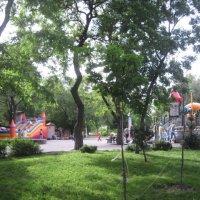 парк с детской площадкой :: Валентина Миленина