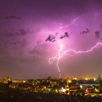 Гроза над ночным городом :: Сандродед