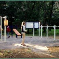 Спортивные площадки в городских дворах. :: Ольга Кривых
