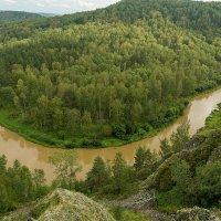 вид со скалы Зверобой на реку Бердь, Новосибирская область, Маслянинский район :: Дмитрий Кучеров