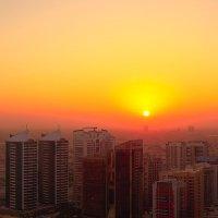 Восход солнца над Дубаем. :: Анатолий Грачев