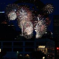 Индианаполис, салют в День Независимости :: Яков Геллер