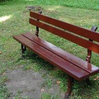 Симпатичная и полезная скамейка в парке рядом с домом П.Чайковского :: Александр Буянов