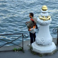 Париж, рыбалка на Сене :: Lüdmila Bosova (infra-sound)