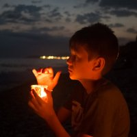 Ночь на пляже :: Ольга Долбилина