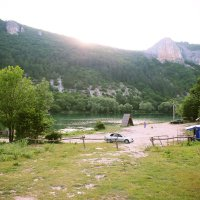 озеро у подножия Мангуп-кале :: Silina Winter