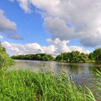 Облака над рекой Рось.(панорама) :: Vladimir Kushpil
