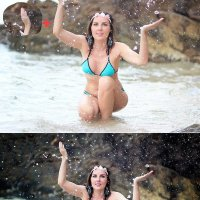 """""""Повелительница воды"""" до и после :: Alex Lipchansky"""