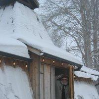 В гостях у Санта-Клауса в пригороде лапландского Куусамо. Встречает гном :: Елена Павлова (Смолова)