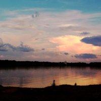 закатное небо над озером Вселуг :: Наталья Крюкова