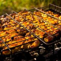 Шашлык из грудки курицы, маринованный в майонезе и апельсиновом соке =) :: Сергей Гибков