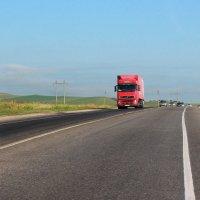 грузовик на дороге :: Олег Петрушин