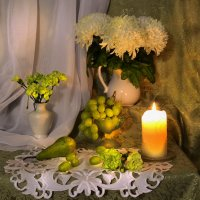 Из белых хризантем букет... :: Валентина Колова