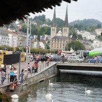 Вид с моста Капелльбрюкке :: Елена Павлова (Смолова)