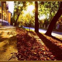 Я шагаю тихонько по улочкам старым и мой спутник усталый-осеннее солнце.. :: Елена Прихожай