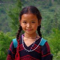 Лица Индии. Маленькая горянка. :: Михаил Рогожин
