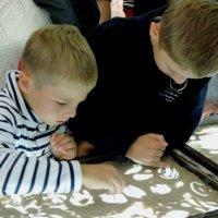 Рисование песком на стекле :: bemam *