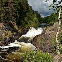 Водопад «Кивач», образуемый падением реки Суны. :: Маry ...