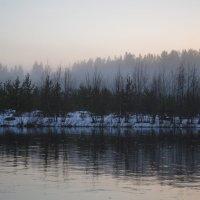 туман.река.вечер. :: Екатерина Булыгина