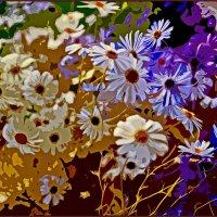 Нарисованные цветы.. :: Любовь Чунарёва