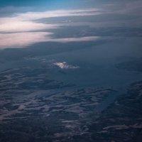 Камское водохранилище с высоты 11 000 метров :: Ирина Терентьева
