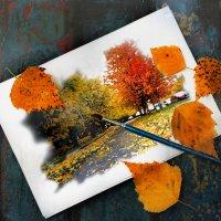Я рисую осень. :: Елена Прихожай