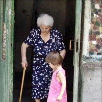 """""""Бабушка, я тебе помогу!"""" :: Нина Корешкова"""