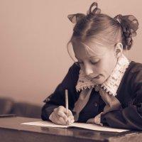 Урок чистописания :: Galina Zabruskova