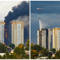 Пожар в Красноярске :: Владимир Сковородников