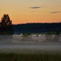 Туманный закат возле финской границы :: Сергей Батищев