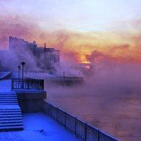 Ангара....с туманом спорит.... :: Александр | Матвей БЕЛЫЙ