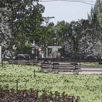 Фонтан на главной площади Донецка :: Владимир Ракитин
