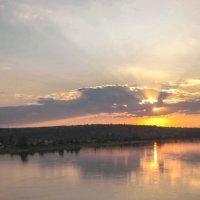 Закат над Енисеем :: юрий Амосов