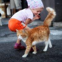 Малыш и кот :: Anna Lipatova