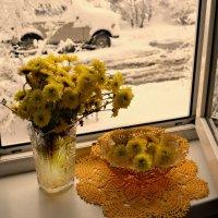 А за окном ложился снег... :: galina tihonova