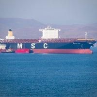 """Новейший контейнеровоз """"MSC NEW YORK"""" :: Павел Бескороваев"""
