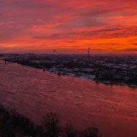 Вот такой закат был,перед потеплением! :: Александр Ладыгин